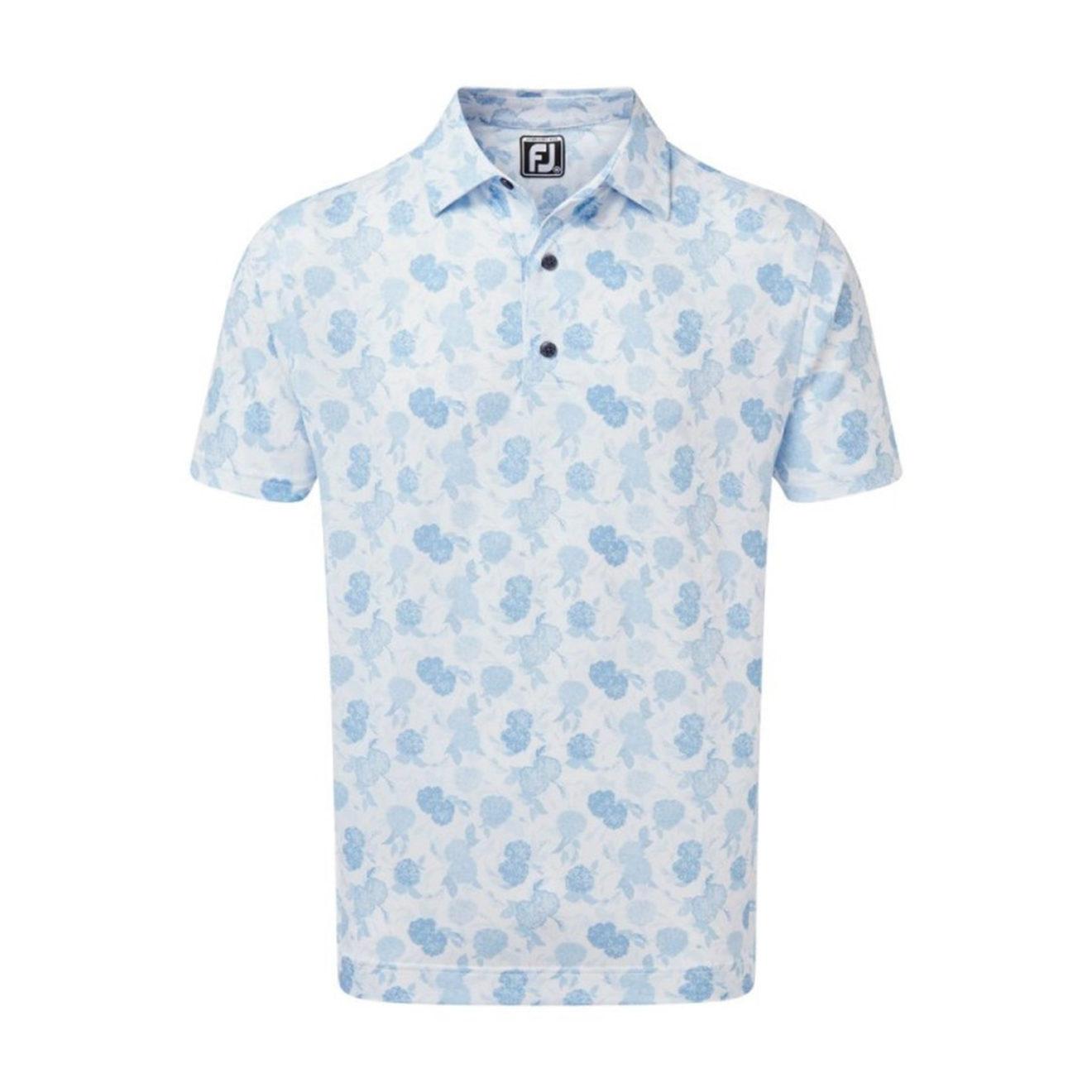 polo-footjoy-impression-floral-blancbleu